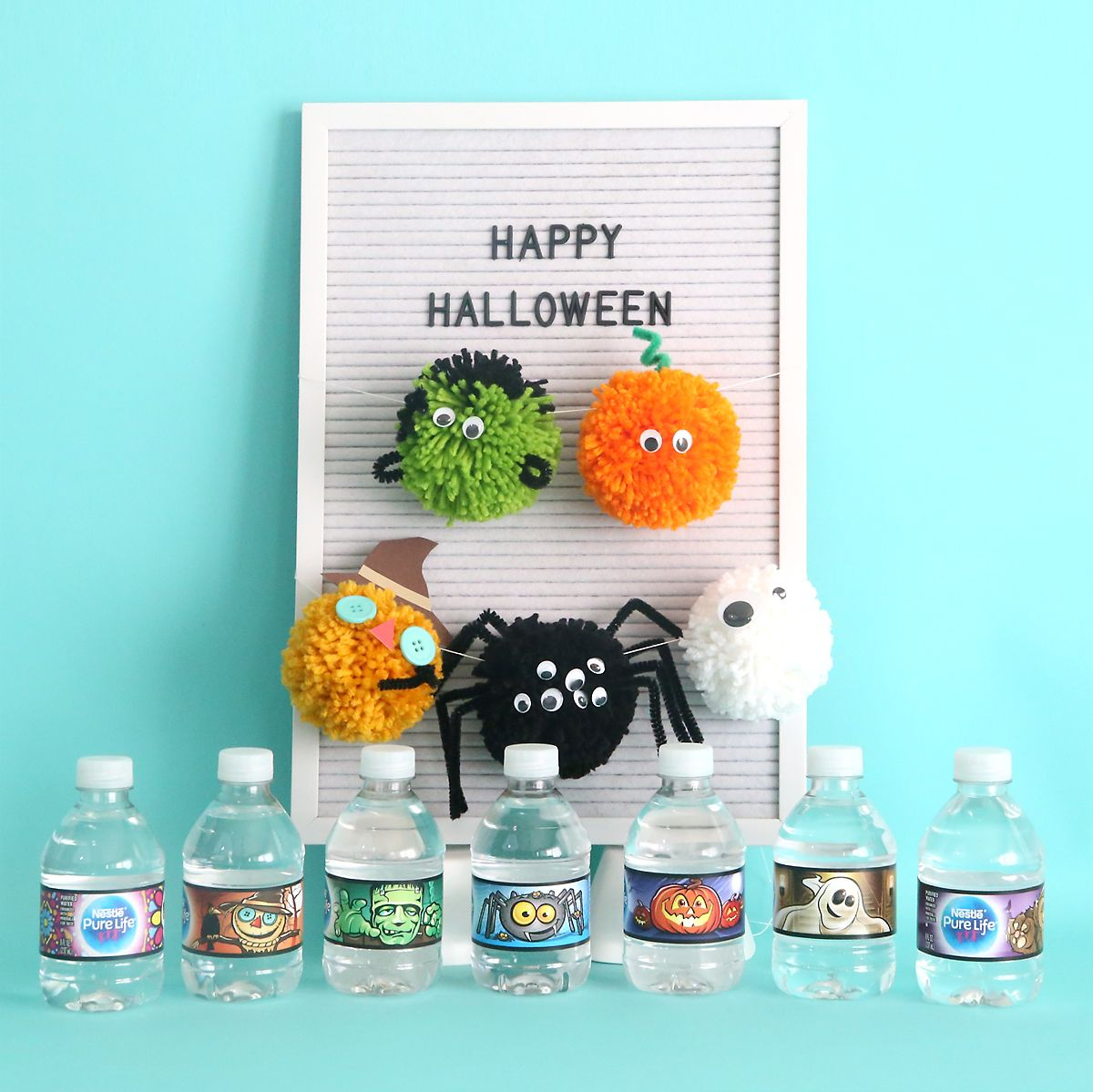 Halloween pom pom pals {easy kids\u0027 craft Fun halloween decorations - Halloween Decorations For Kids