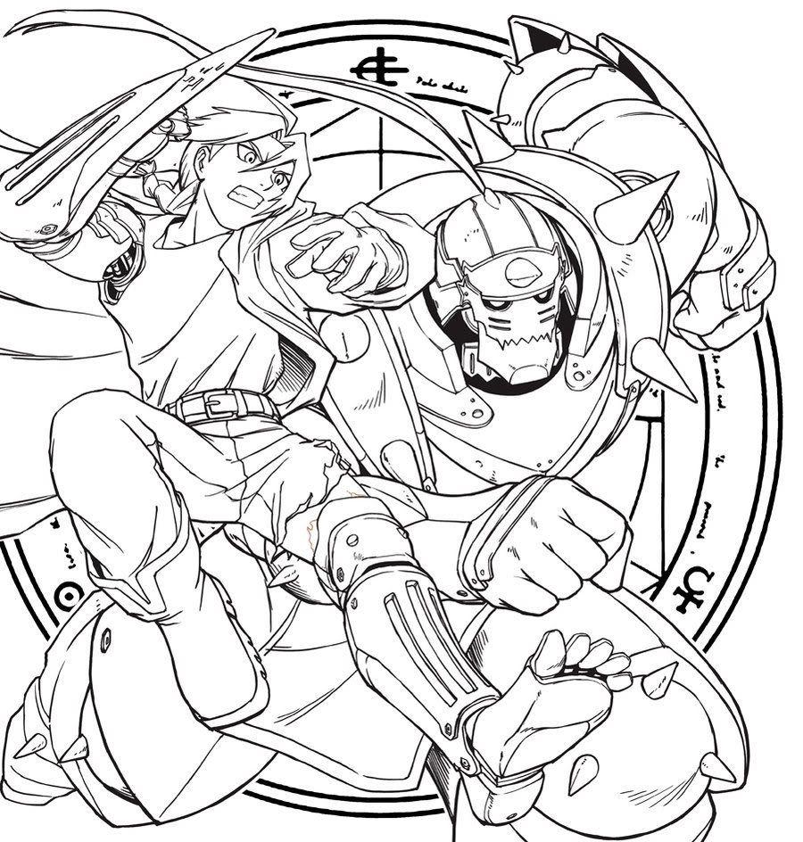 Full Metal Alchemist Lineart By Mak Jpg 900 944 Coloring Pages Fullmetal Alchemist Anime Inspired