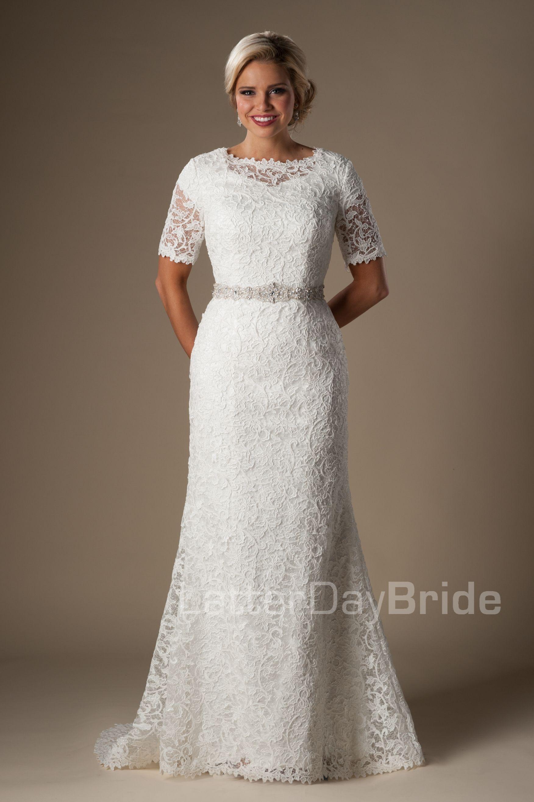 Pin By Lauren Perrier On Modest Bridal Dresses Pinterest