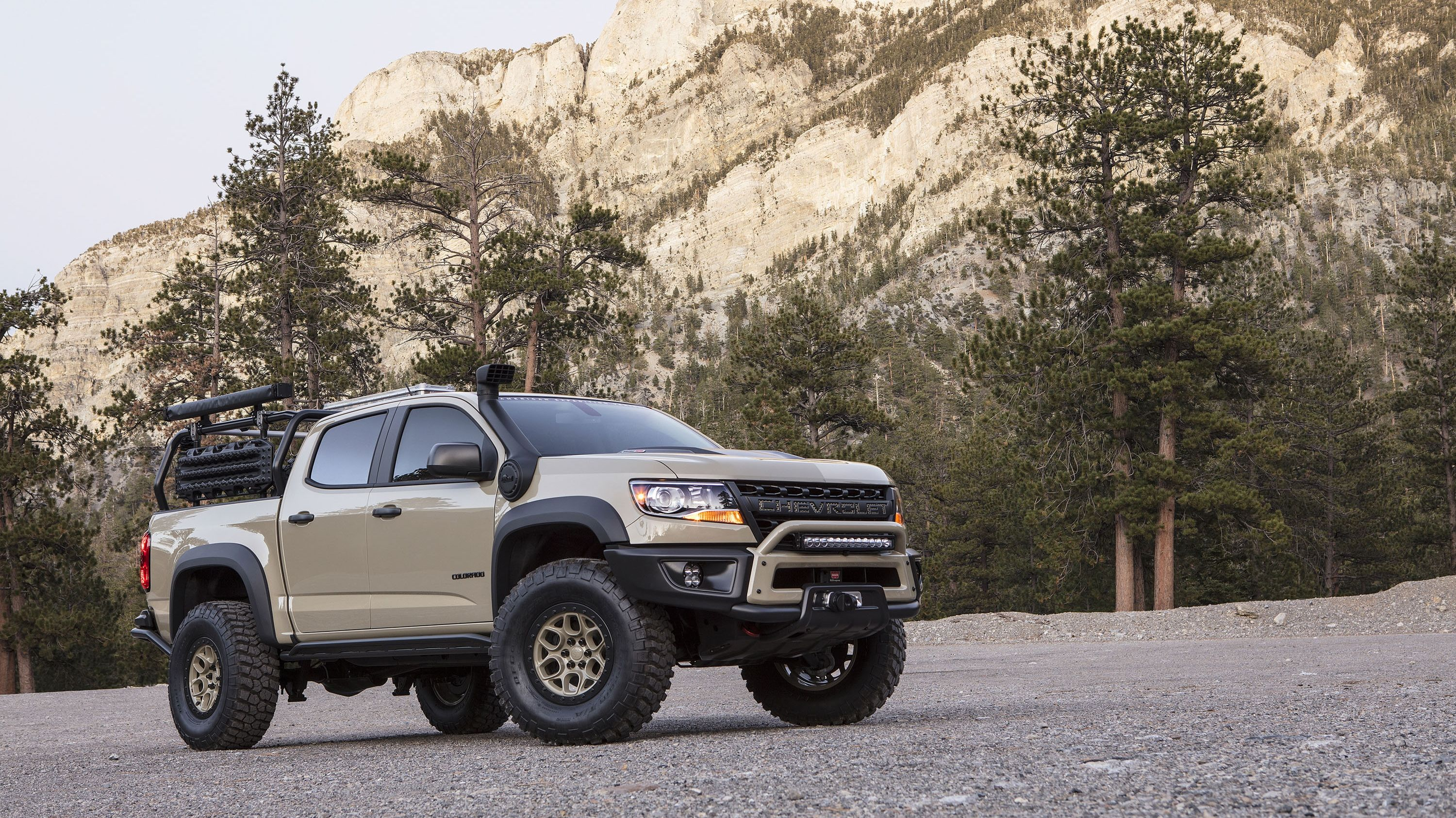 Chevy Is Pushing The Colorado Zr2 Aev Concept Into Production Will Probably Call It The Colorado Bison Chevrolet Colorado Overland Gear Chevy Colorado