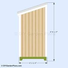 free 3x8 wood shed lean to plans