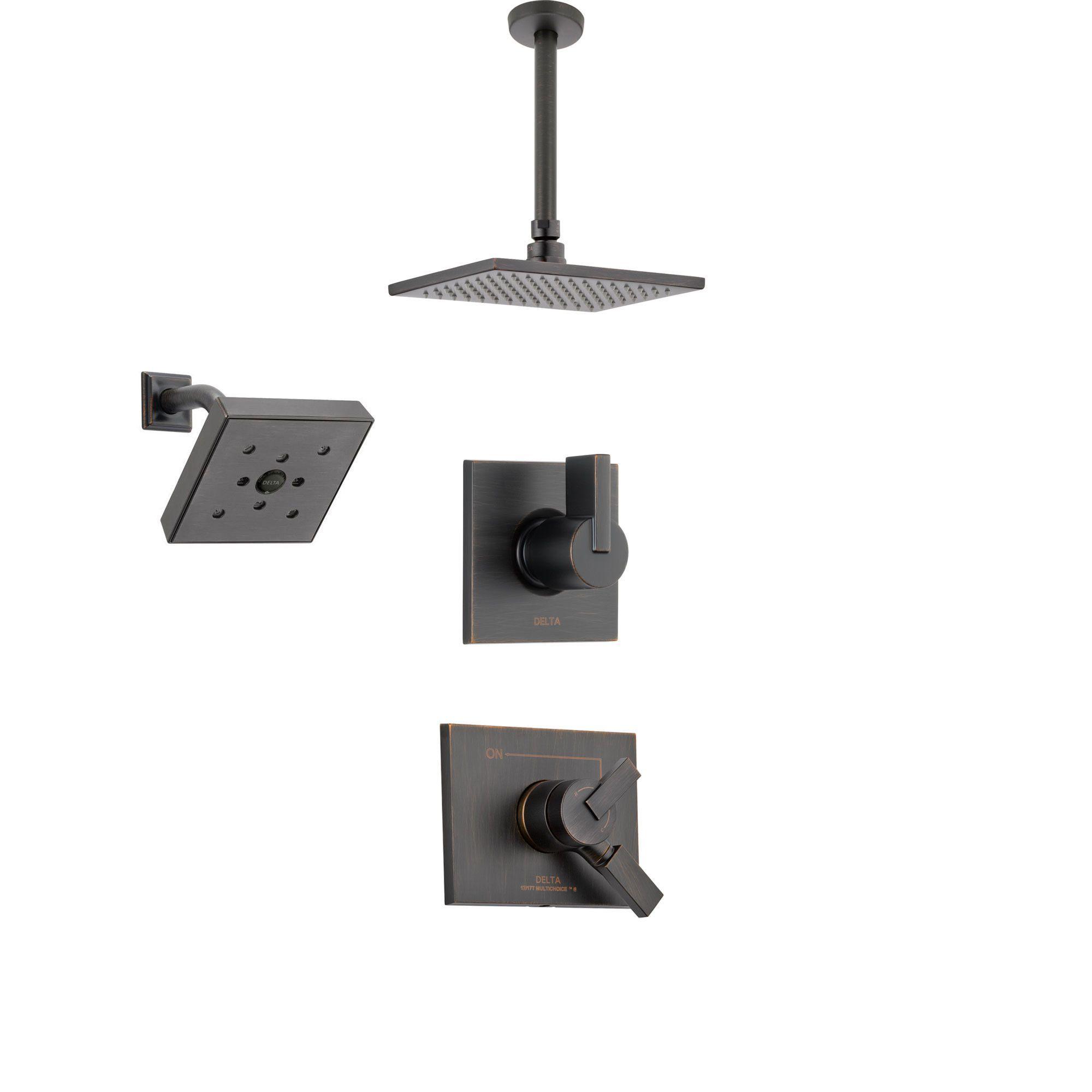 Delta Vero Venetian Bronze Shower System With Dual Control Shower