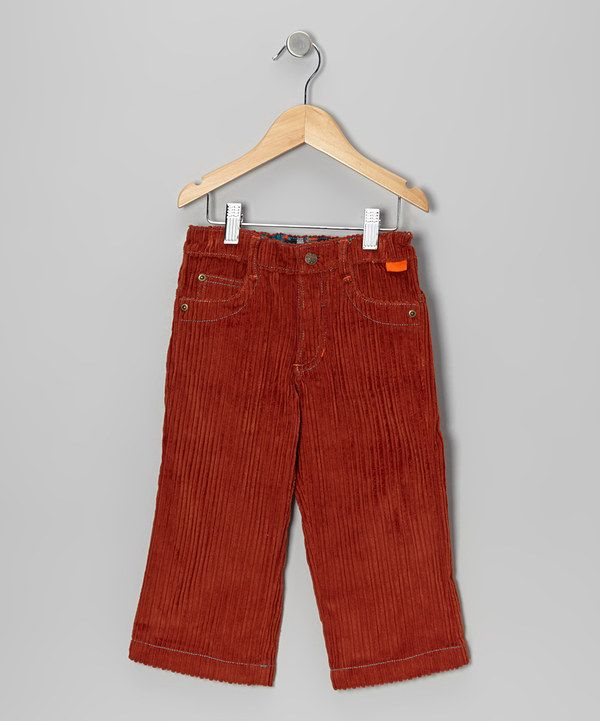 4c2bc16df049b8 Take a look at this Rust Wide Wale Corduroy Pants - Infant, Toddler & Boys  on zulily today!