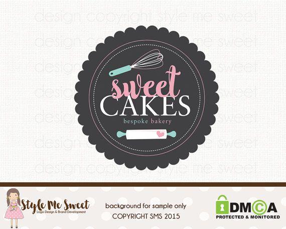 Whisk Logo Design Rolling Pin Logo Bakery By Bloomingjunedesignco