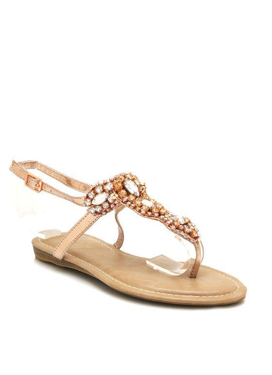 embellished metallic sandals $22.20