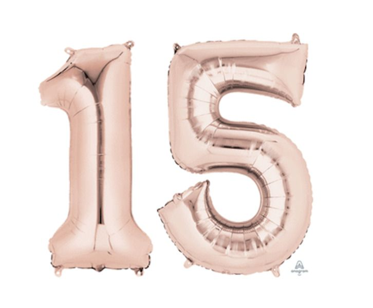 15th Wedding Anniversary Birthday Balloons Party For Teens 16th Gold Girl Happy