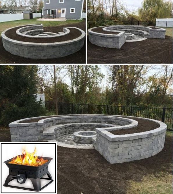 Portable custom fire pit ideas and fire pit with red ...