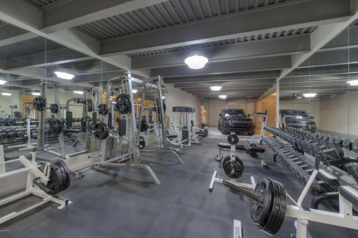 Modern european estate in gilbert az features an full gym and is