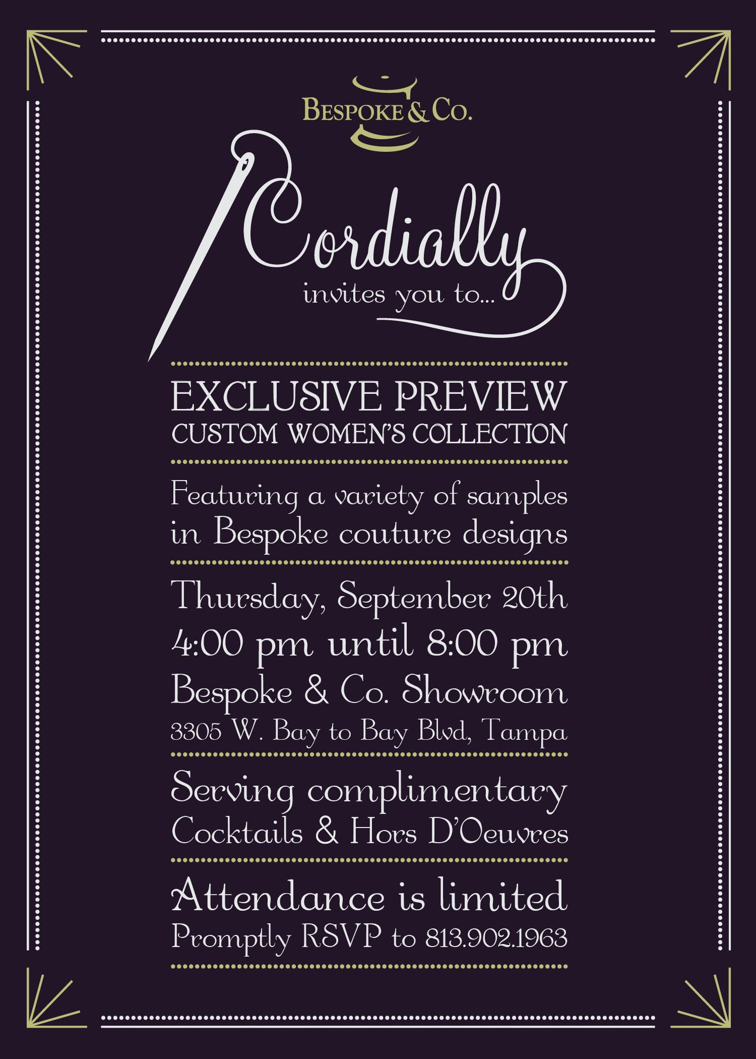 Bespoke co cordially invites you to their exclusive womens bespoke co cordially invites you to their exclusive womens fashion event on thursday stopboris Choice Image