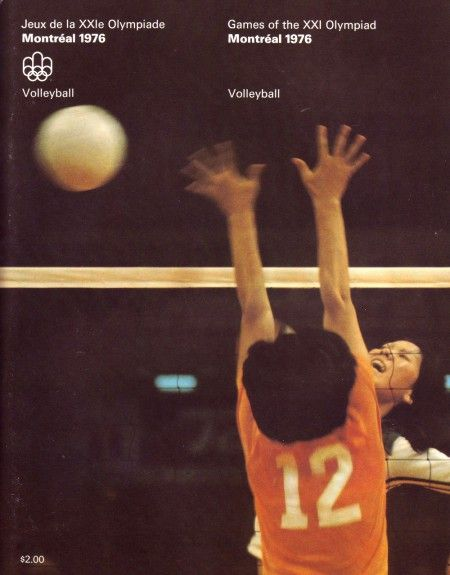 1976 Montreal Olympics Georges Huel Graphic Design Posters Volleyball Posters Graphic Design Advertising