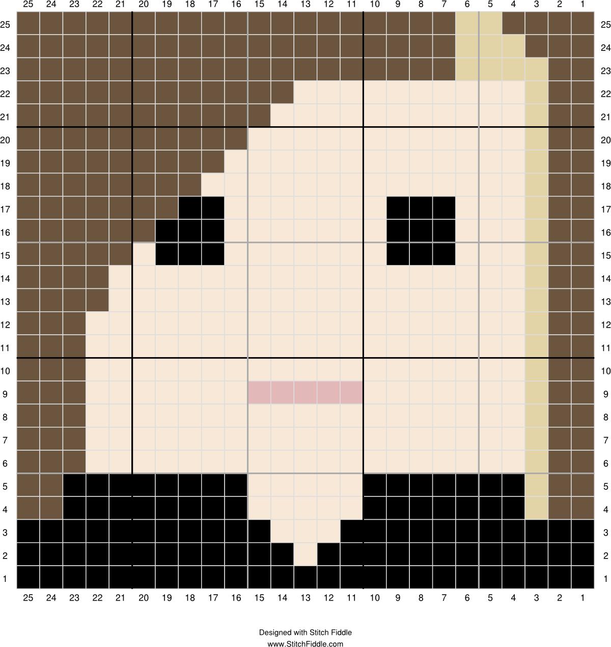 Bellatrix Lestrange graph | Designed by Autumn Edlin | Stitch Fiddle ...