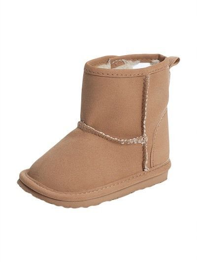 42aa725921336 GAP Baby Boys   Girls Size 3-6 Months NWT Tan Shearling Boots Booties Shoes   BabyGap  Booties