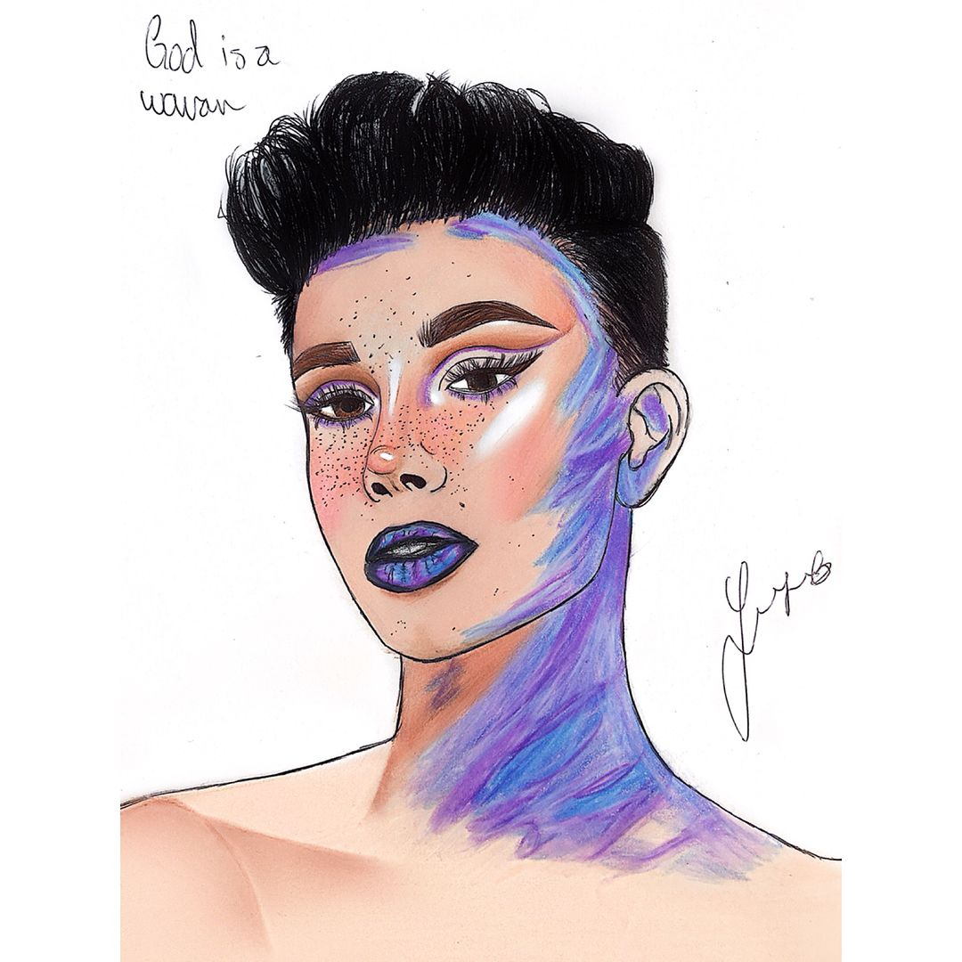 God Is A Woman Drawings By Me Jamescharles Arianagrande Ily The Most Drawing Jamescharles Pastels James Charles Drawings Woman Drawing