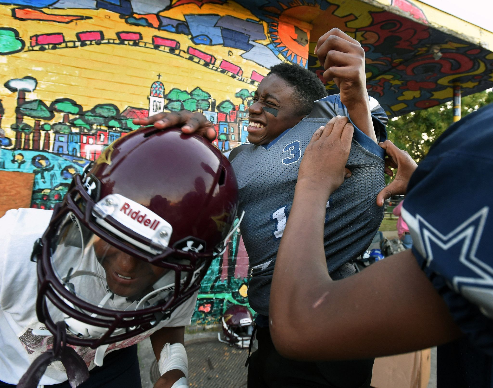 Youth football coach, community revitalize Southwest Baltimore park