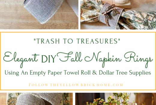 Elegant DIY Fall Napkin Rings Using Dollar Tree Supplies