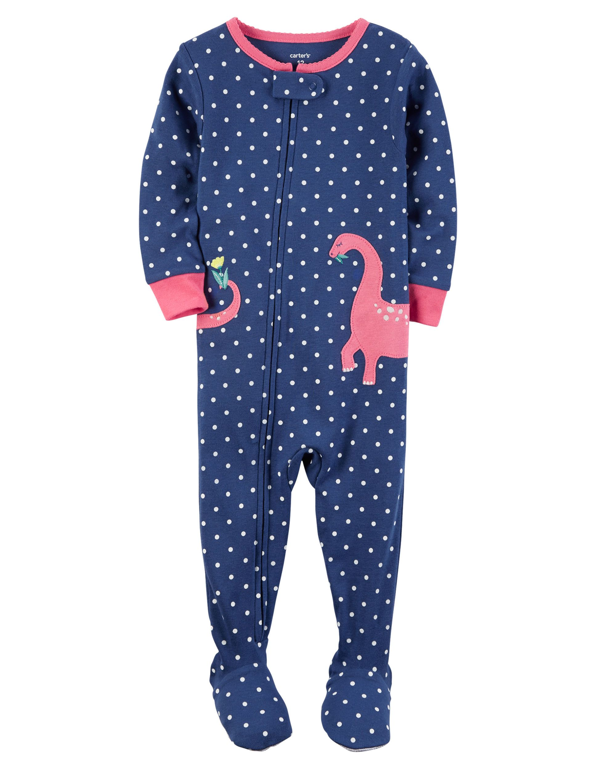 286973c8f Baby Girl 1-Piece Snug Fit Cotton PJs