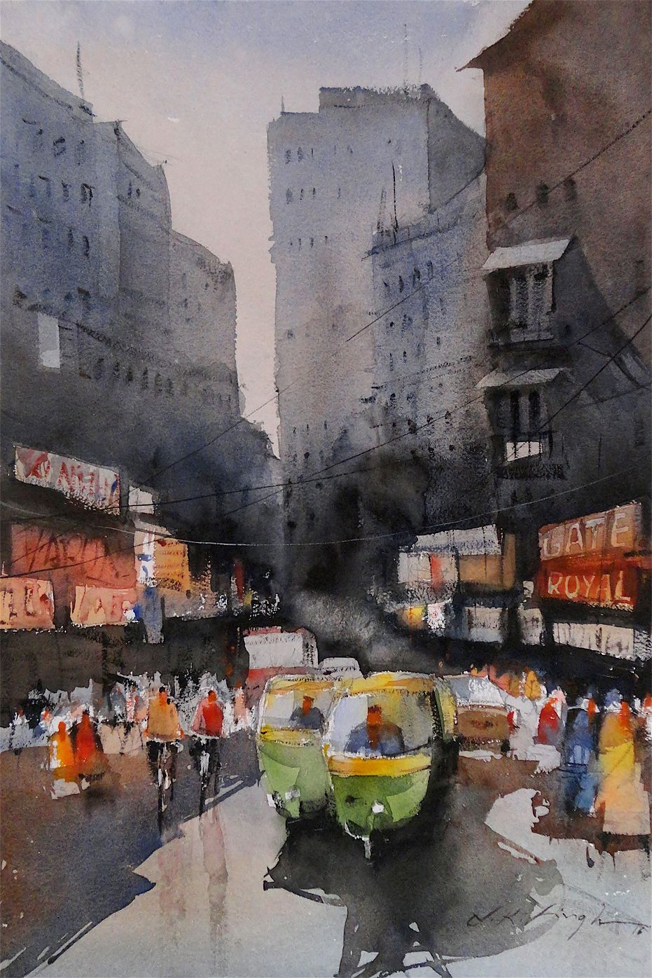 Indian Cityscape- Watercolor Online Art Of