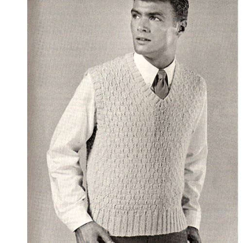 Mens Free Knit Pullover Vest Pdf Pattern Knit Vest Pattern Knitting Knitted Pullover