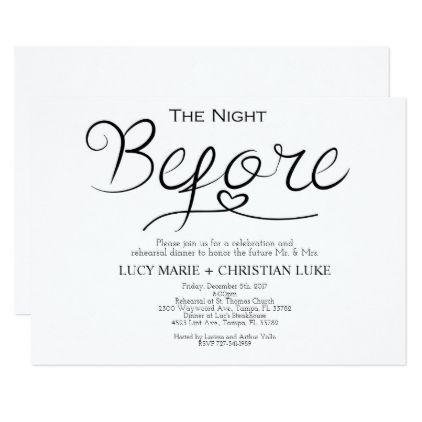Rehearsal Dinner Invitation Rehearsal Script Card - script gifts - dinner invitation template