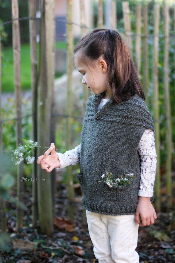 Knitting Pattern - COMFORT VEST (Child and Adult Sizes) - English ...