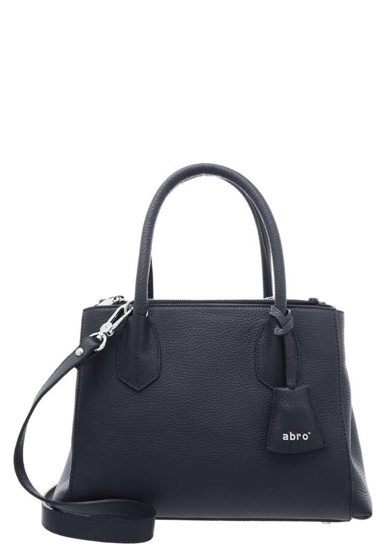 """Handbag - blue/navy. Lining:textile. Compartments:mobile phone pocket. carrying handle:5.5 """" (Size One Size). height:8.0 """" (Size One Size). Outer material:leather. width:5.0 """" (Size One Size). length:10.0 """" (Size One Size). Pattern:plain"""
