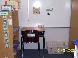 Here's a cool way to setup a classroom for kids with autism.  Try to go back and you can see lots of examples and tips.