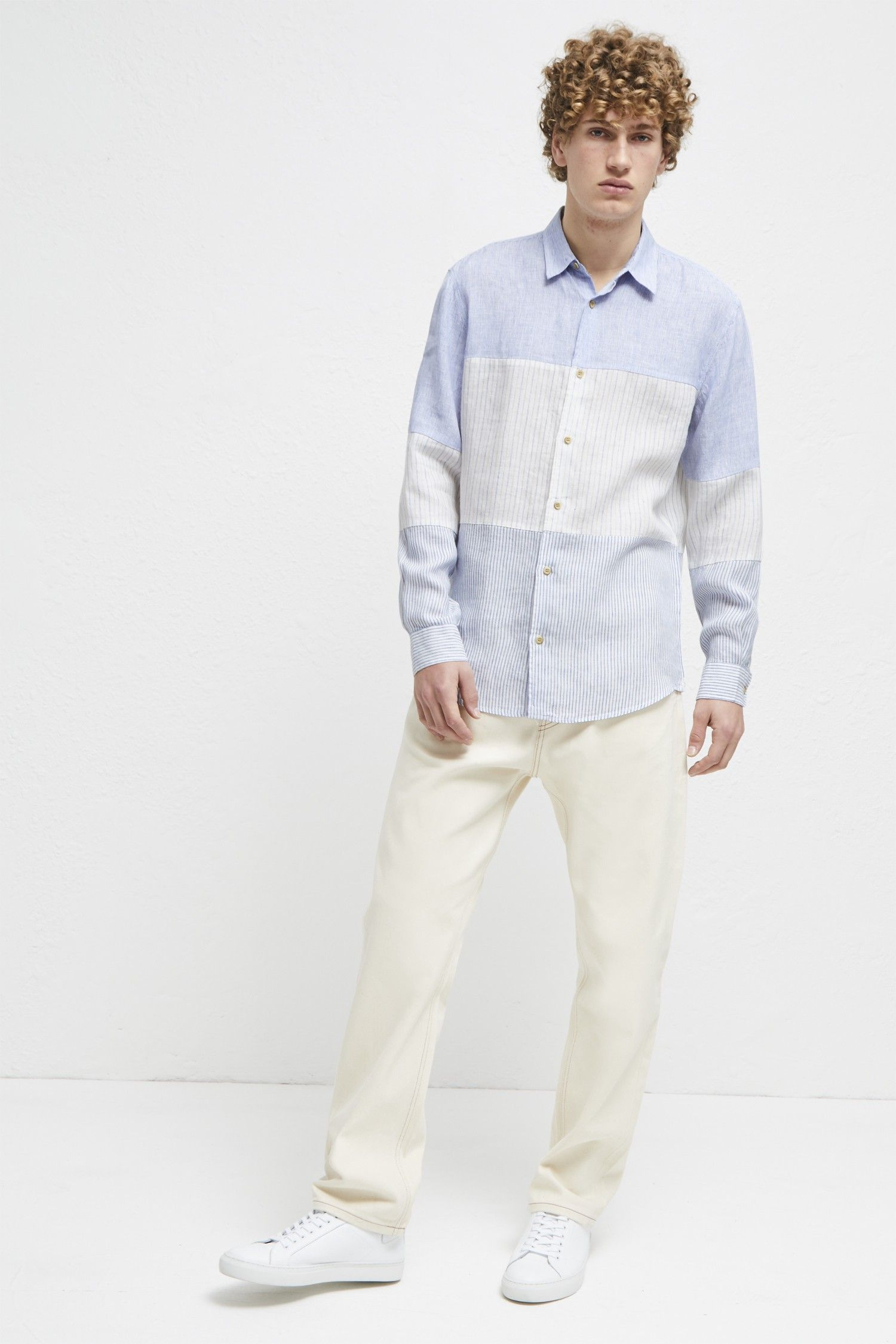 633fc92e French Connection Linen Chambray Stripe Shirt - XS | Products ...