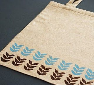 hand stamped totes