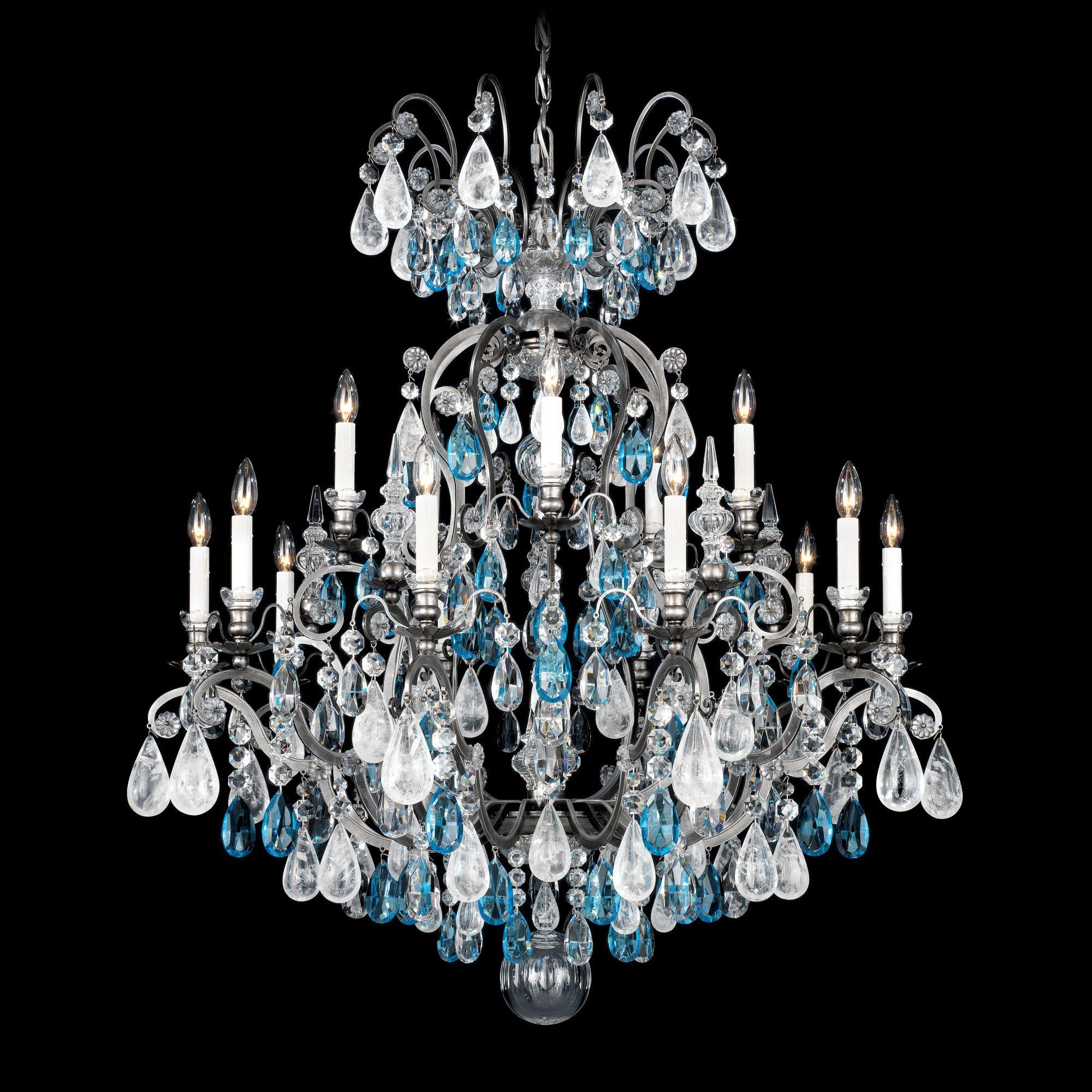Schonbek Renaissance Rock Crystal 16 Light Chandelier