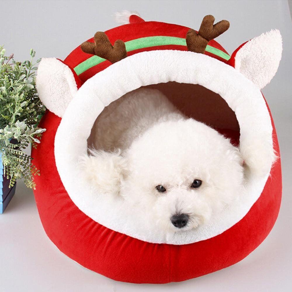 pet dog bed amatm cute christmas red reindeer pet puppy cat bed rh pinterest com
