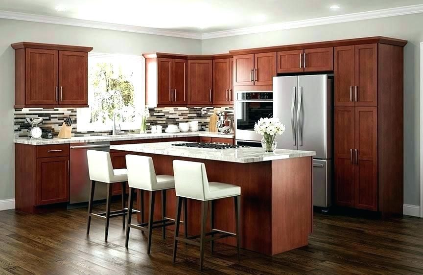 Cherry Cabinets With Light Countertop Cherry Cabinets Kitchen Laminate Kitchen Cabinets Cherry Wood Kitchens