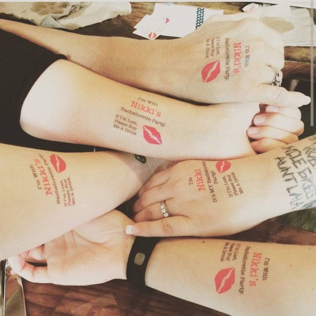 Bachelorette Party Temporary Tattoos - Bachelorette Tattoos - Bachelorette Favor - Bridesmaid Tattoo by SymbolicImports on Etsy https://www.etsy.com/listing/262197836/bachelorette-party-temporary-tattoos