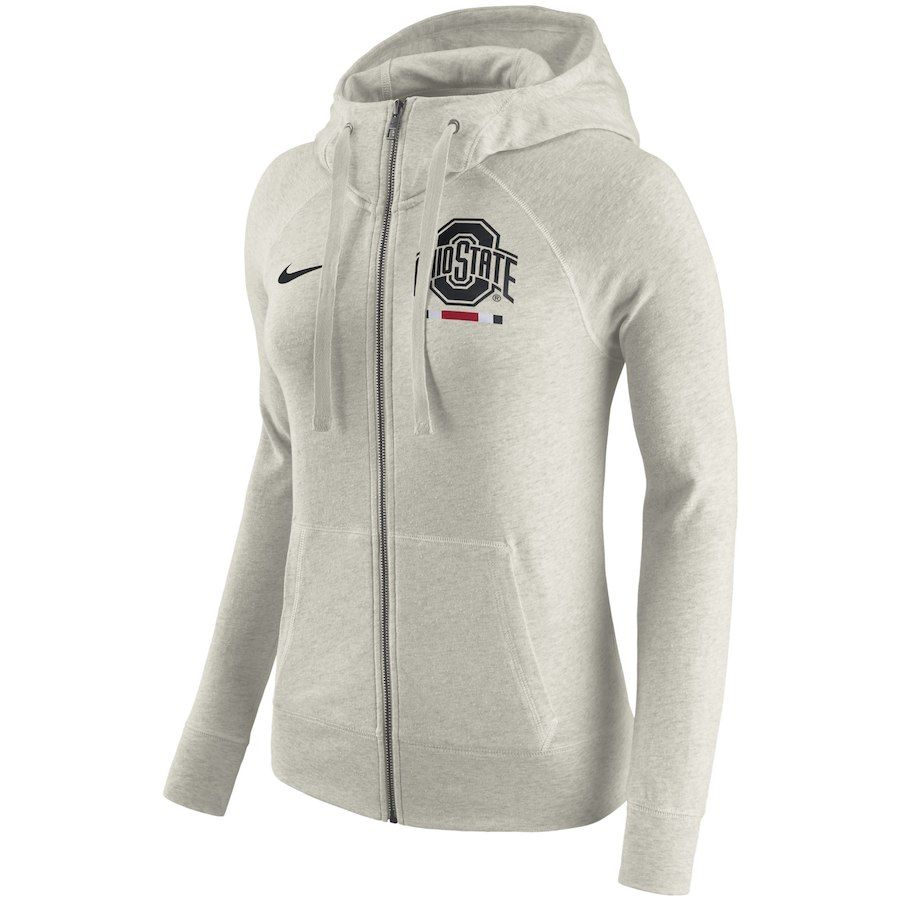 Ohio State Buckeyes Nike Women S Gym Vintage Full Zip Hoodie Cream Vintage Hoodies Hoodies Nike Women [ 900 x 900 Pixel ]
