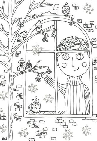 peter boy in november coloring page - November Coloring Pages Free