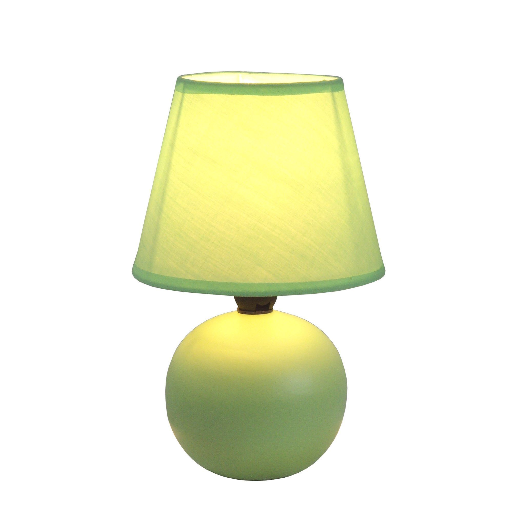 Mini Ceramic Globe Table Lamp Green