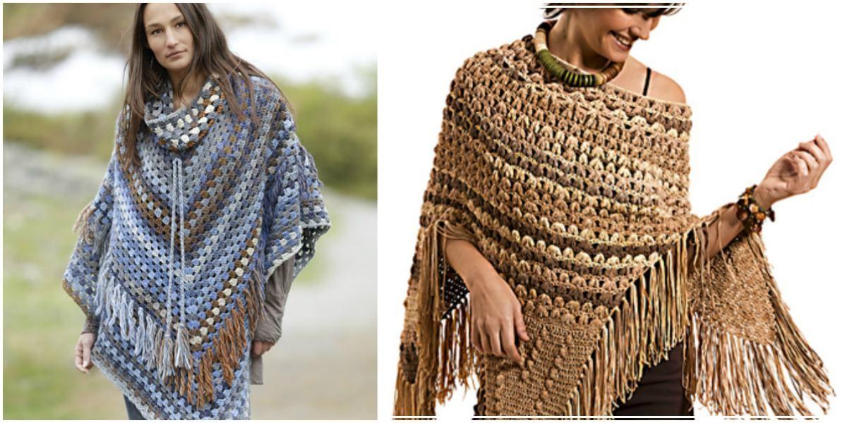 Pocahontas or Gaucho – Crochet Poncho [Free Pattern | Ponchos ...
