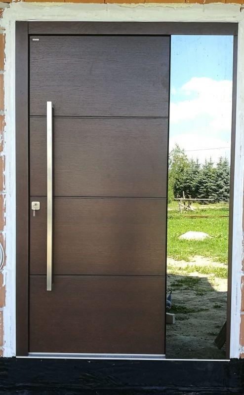 Niewiarygodnie Drzwi zewnętrzne ciemny kolor, aluminiowy pochwyt | korytarz in UR83