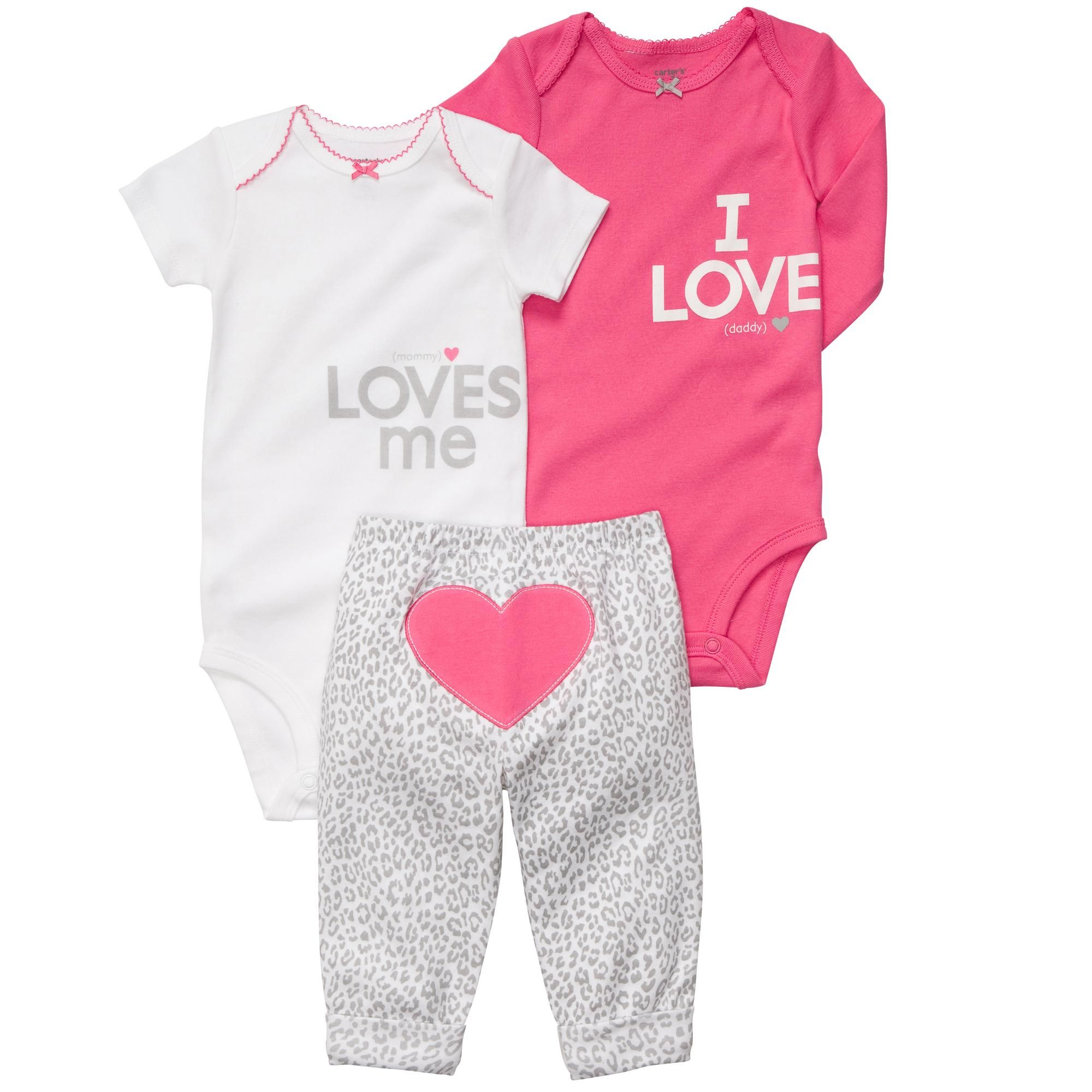 mommy loves me and i love daddy We have this for our baby girl we
