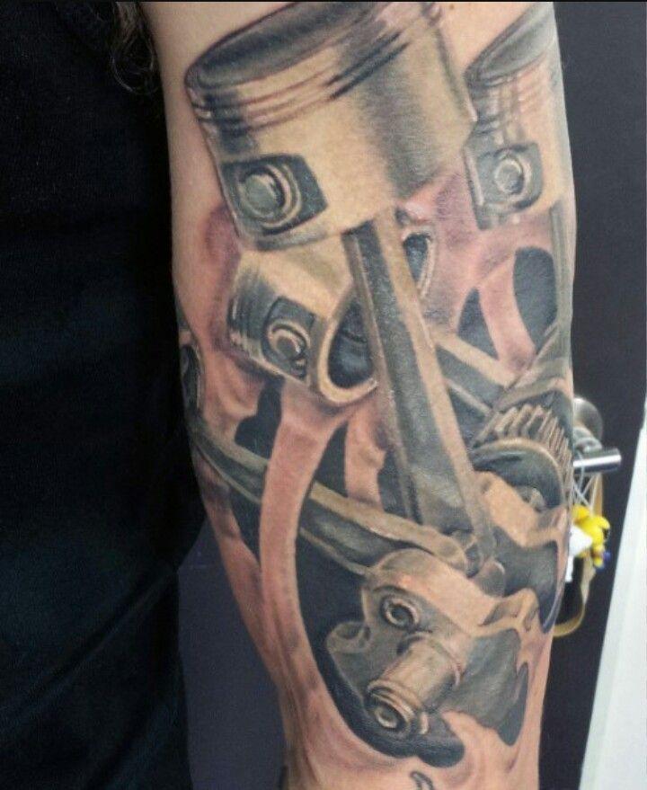 Piston And Crankshaft Piston Tattoo Tattoo Designs Men Tattoos