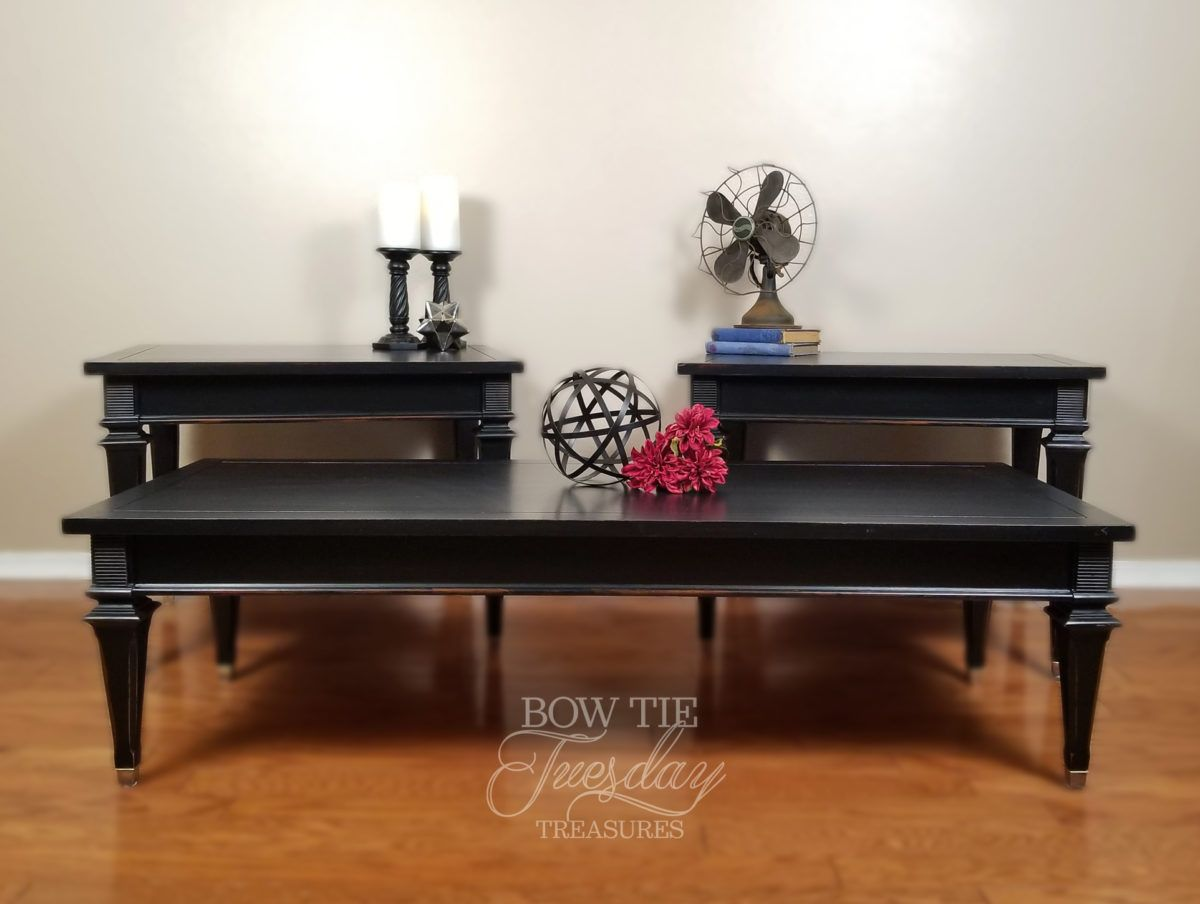 Best Coffee And End Table Set Bow Tie Tuesday Treasures Chalk 400 x 300