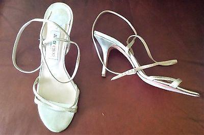 JIMMY CHOO London Ankle Strap Leather Gold Shoes Heels sz 40.5 US 8.5 Metallic  | eBay