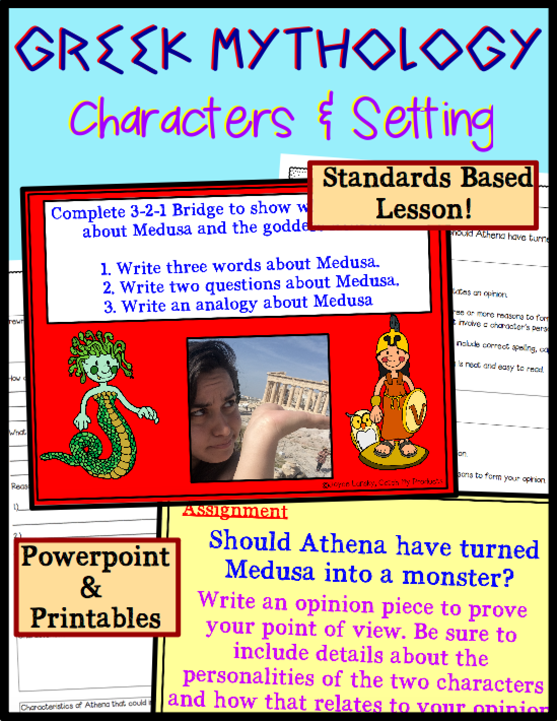 Character Traits and Setting Greek Mythology   Greek mythology lessons [ 1420 x 1098 Pixel ]