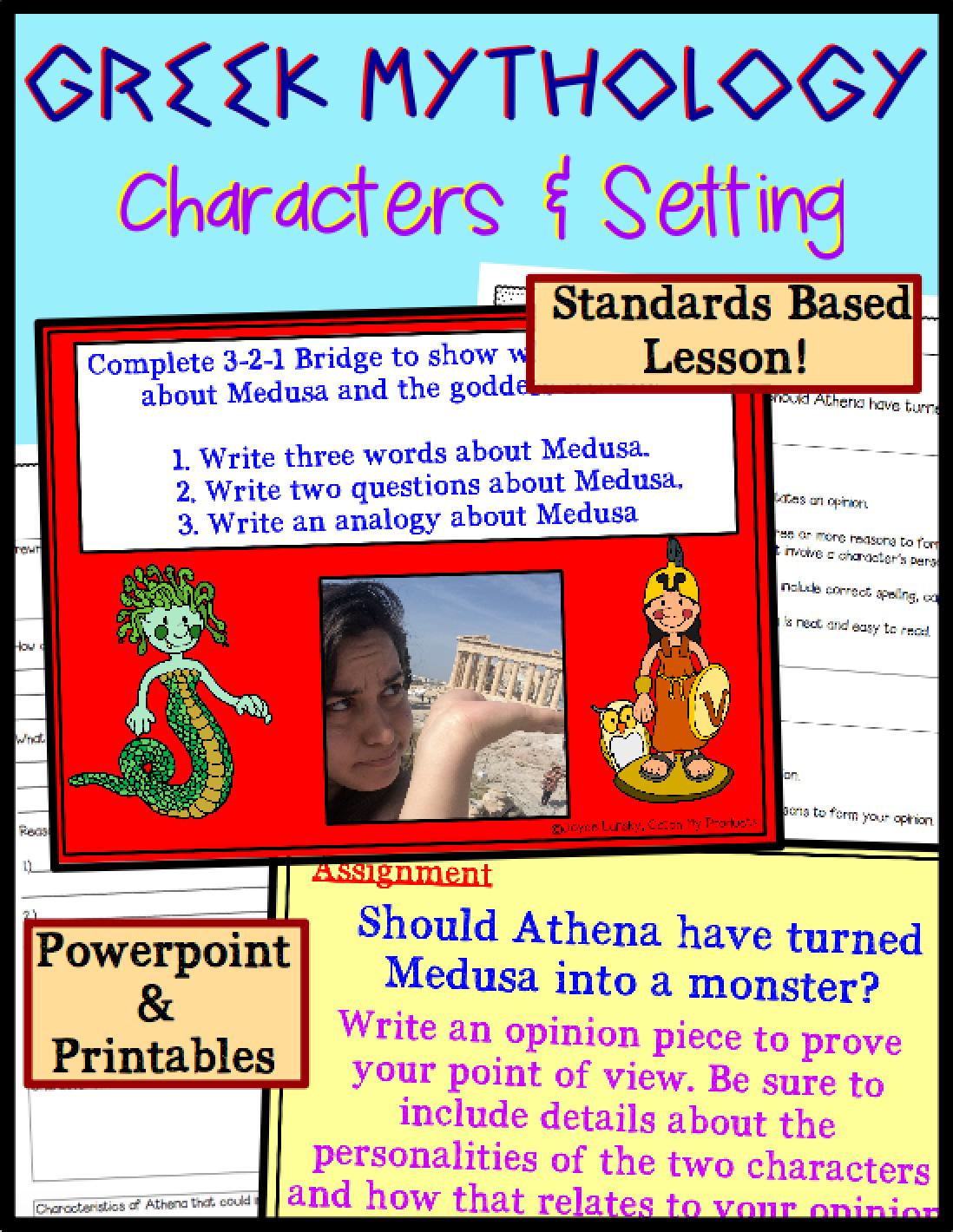 Character Traits And Setting Greek Mythology With Images