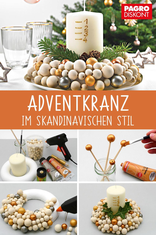 Skandinavischer Adventkranz