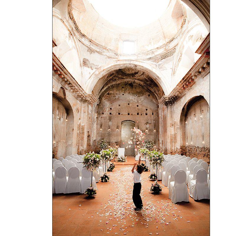 Wedding In A Church Ruin Antigua Guatemala Beautiful
