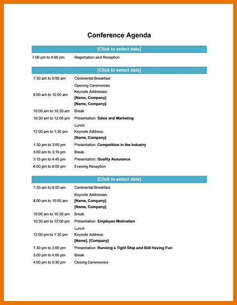 Meeting Itinerary Template from i.pinimg.com