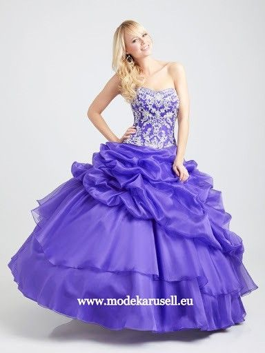 Blaues Volumen Abendkleid Sibylla | Ballkleid, Lila ...