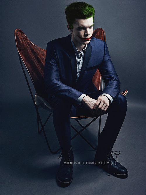 Jerome Valeska as the would-be , could've been Joker. But unfortunately in Gotham, The Joker is more than just a person, its an ideal of anarchy and chaos with a comedic twist.