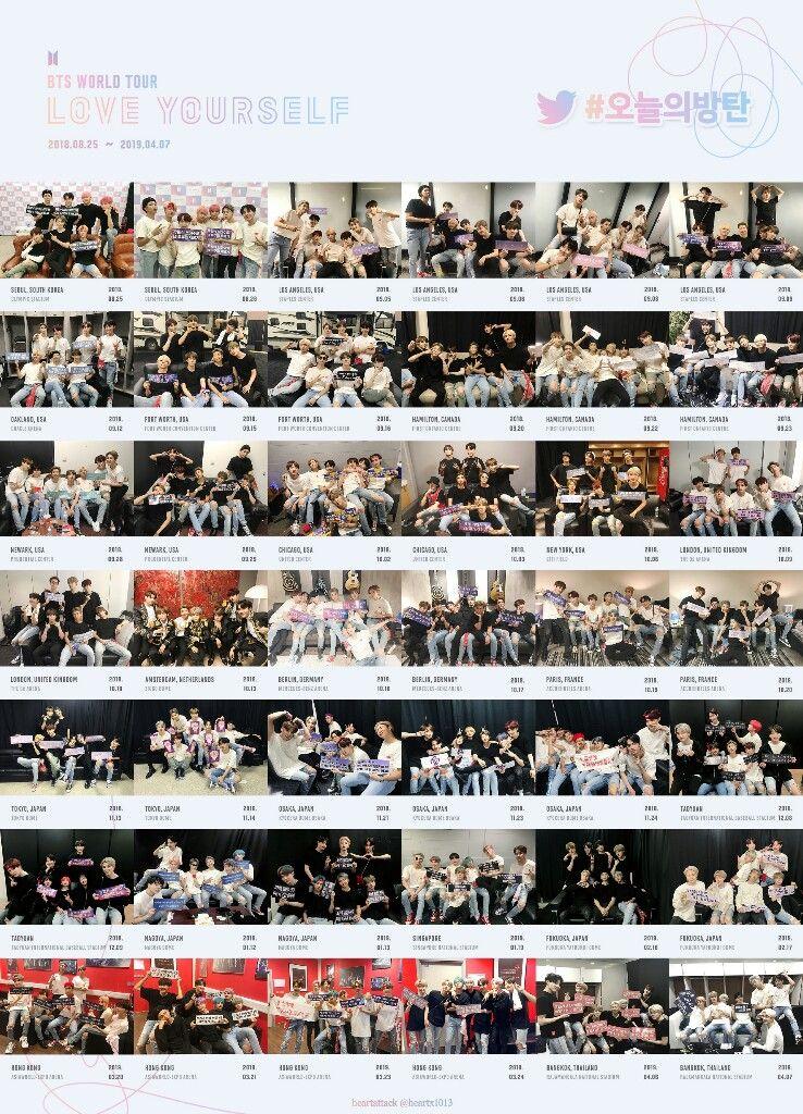 c1b6f3be1 180825~190407 #오늘의방탄 #BTS LOVE YOURSELF TOUR #JIMIN #SUGA ...