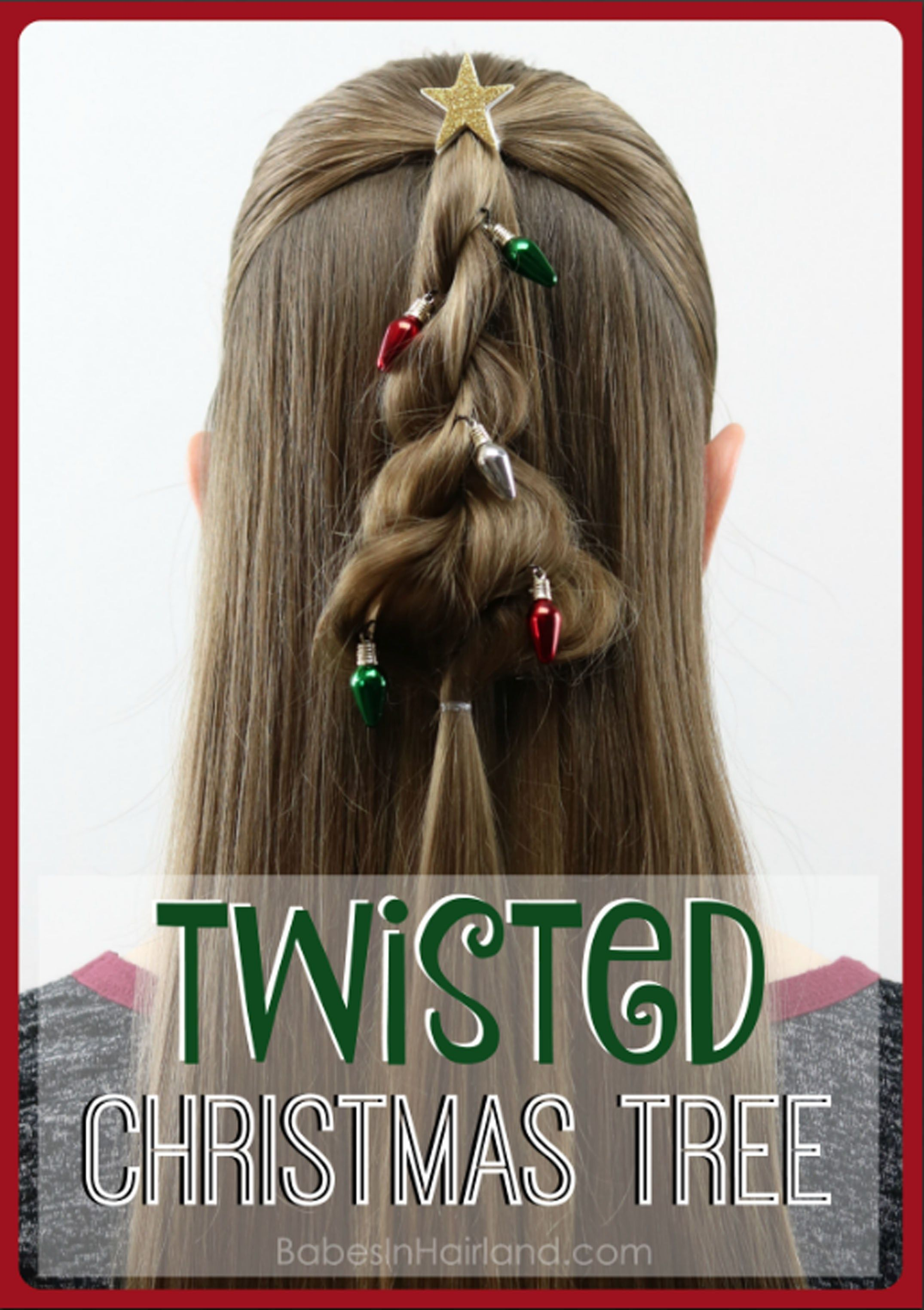 Twisted Christmas Tree Hairstyle Hair Styles Kids Hairstyles Hair